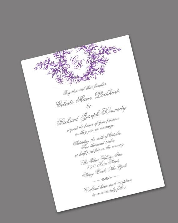 SALE Letterpress Wedding Invitations  DEPOSIT