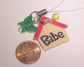 Babe Cell Phone Charm Lanyard iPod Leash Beads Purse Jewelry