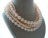 Champagne -- Champagne Quartz Multi-Strand Gemstone necklace