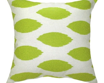 Green Pillow, Premier Prints Chipper Slub Chartreuse Green Decorative Pillow -- Free Shipping