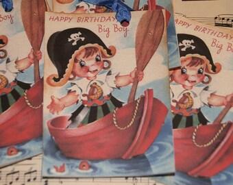 Boy Birthday Pirate Gift Tags - Boy Birthday Wishes - Pirate themed Birthday