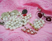 PIF - A Collection of Vintage Beads, Buttons and Earrings