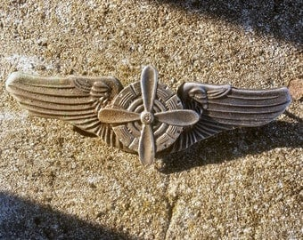 Rare WW2 B-29 Flight Engineer Flying Air Corp Badge Late and Post-war