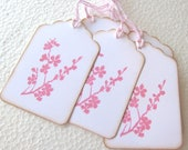 Pink Cherry Blossom Gift Tags