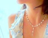 White Wedding Pearl Necklace, y necklace