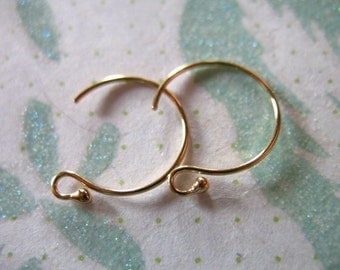 Shop Sale.. 1 5 10 25 pairs, 14k Gold Filled Ball Earrings, 12.5 mm, simple classic, wholesale earring findings solo