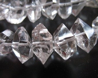 10% Off Sale.. 3 5 10 pcs, Herkimer Diamonds,, Nuggets, Choose size 8-10 or 10-12 mm, Double Terminated Briolettes, Luxe AAA, M L  crc wf