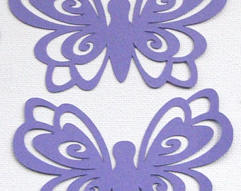 Ornate Butterfly die cut embellishments set of 6 in any colour