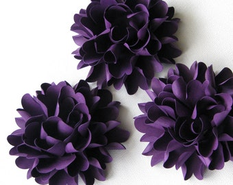 Paper flowers Beautiful Chrysanthemum flowers for weddings, gifts, or scrapbooking set of 6 any color