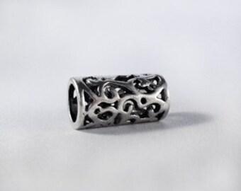 ADD to your DREADS Dreadlock Bead Accessory Extension Accessories Filigree Cutout Dread Boho Bohemian Hippie Silver