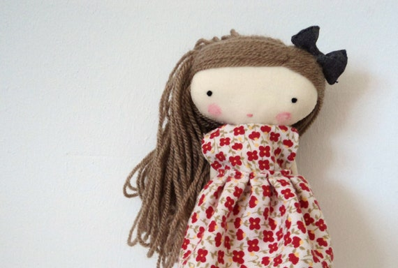 isabella, rag doll - cloth doll made to order