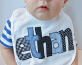 Name Bib Personalized for baby in your choice of colors by Tried and True Designs on Etsy - TriedAndTrueDesigns