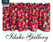 "Apples Crisp and Fresh Kitchen Curtain Window Decor 14"" Valance"