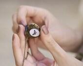 Butterfly Heart locket necklace - Love jewelry (L001)