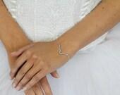 bridesmaids bracelet, wedding bracelet, sterling silver bracelet, chain bracelet, simple bracelet, bridal party, bridesmaids jewelry