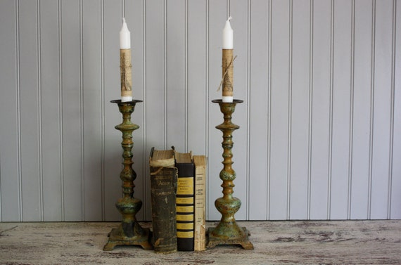 Industrial Old World Candlesticks