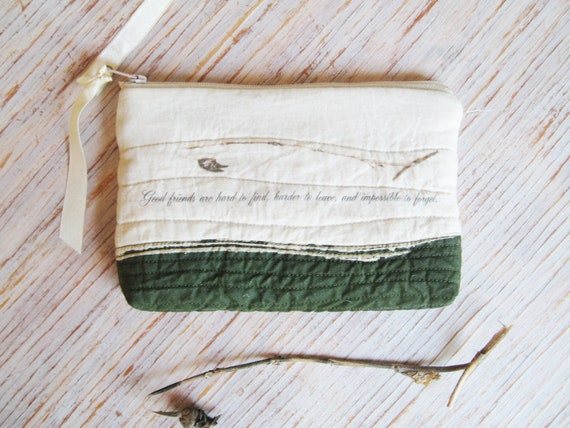 Zipper Pouch Gift For a Friend - Going Away Gift - One of a Kind