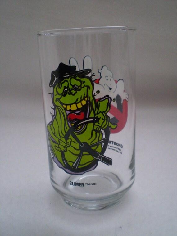 Vintage 1980's Ghostbusters II Glass SLIMER