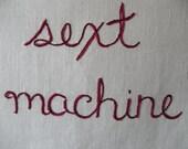 Sext Machine, Modern Tapestry, Edgy Wall Art