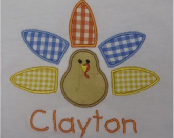Boutique Custom Personalized Turkey Thanksgiving shirt Boy or Girl