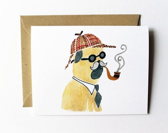 Any Occasion Card - Dr. Watson Pug Card