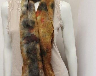 Eucalytpus dyed Nuno felt scarf