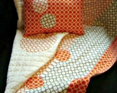Baby - Toddler Quilt and Pillow Cover  - Will It Go Round In Circles
