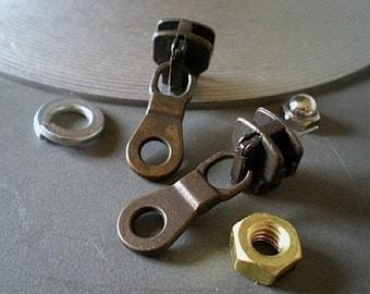 Zippered - industrial hardware earrings