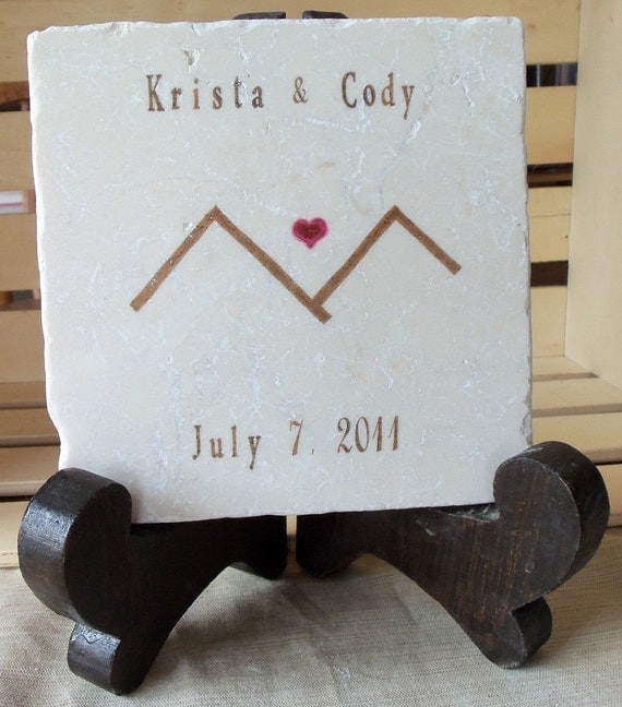 Personalized Mountain Tile Trivet