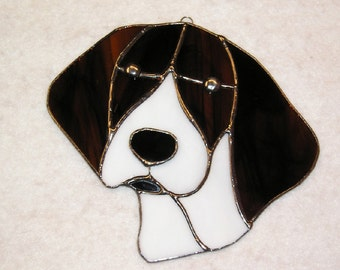 German Shorthaired Pointer in Stained Glass