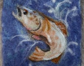 "075 ""Brook Trout"" Thyme Tile Needle Felting Pattern Kit"