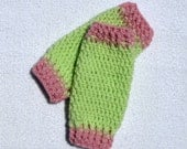 Leg Warmers, Crochet, Baby, Legwarmers, Pink, Green, Pistachio, 0 to 3 Months, 3 to 6 Months, Photography Prop