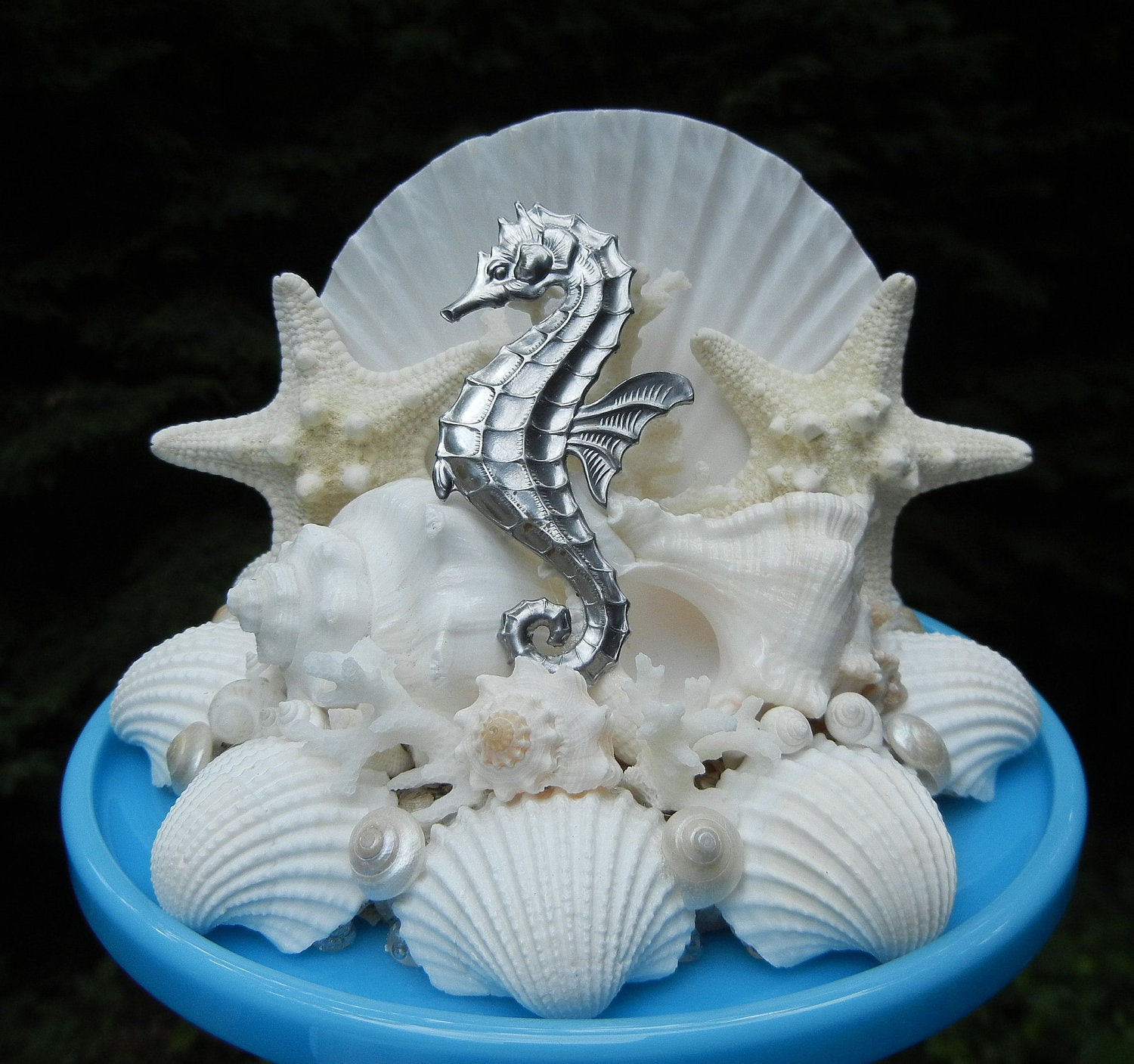seashell starfish seahorse wedding cake topper seahorse. Black Bedroom Furniture Sets. Home Design Ideas