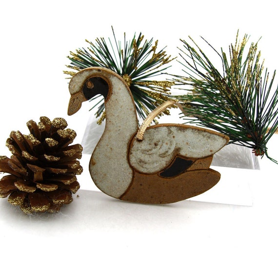 Canadian Geese Set of Two Ornaments