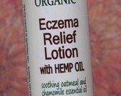 Organic Eczema Relief Lotion with HEMP oil, soothing oatmeal and chamomile essential oil and other all natural ingredients
