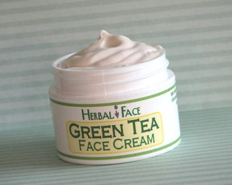 GREEN TEA Face Cream, .5 oz sample size, antioxidant rich, anti-aging formula, all natural ingredients perfect for sensitive skin