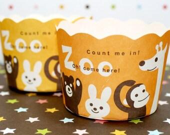 Animal Zoo Baking Cups