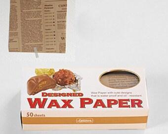 Season Wax Paper - Coffee Text - Small
