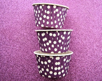Candy Cups in Purple Polka Dots (24)