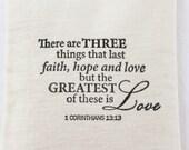 Faith Hope Love Lavender Sachet, 1 Corinthians 13 Bible Verse, Unique Christian Wedding Favor, Wedding Gift