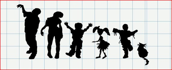 Reserved zombie family decal for Ruth