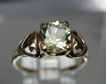 14k Yellow Gold and Citrine Ring - Vintage Setting