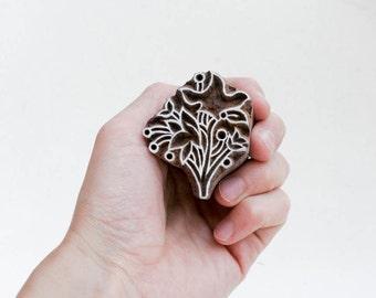 Sale Indian Wood Stamp Flower 172