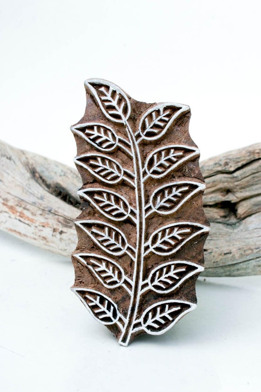 Indian wood stamp leaf