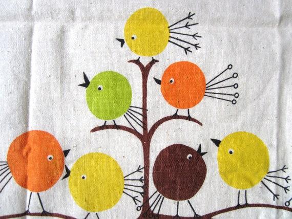 Vintage Fabric MOD Birds
