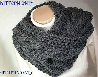 KNITTING PATTERN Circle Scarf Bitten by Bella Cowl diy PDF Instant Download