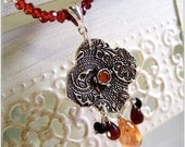Paisley Jewelry Gemstone Necklace Garnet Jewelry