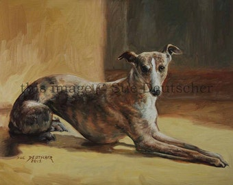 Whippet print from painting