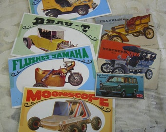 Instant Car Collection of Vintage Cars - Bubble Gum Cards, Cigarette Card, Way out Wheels