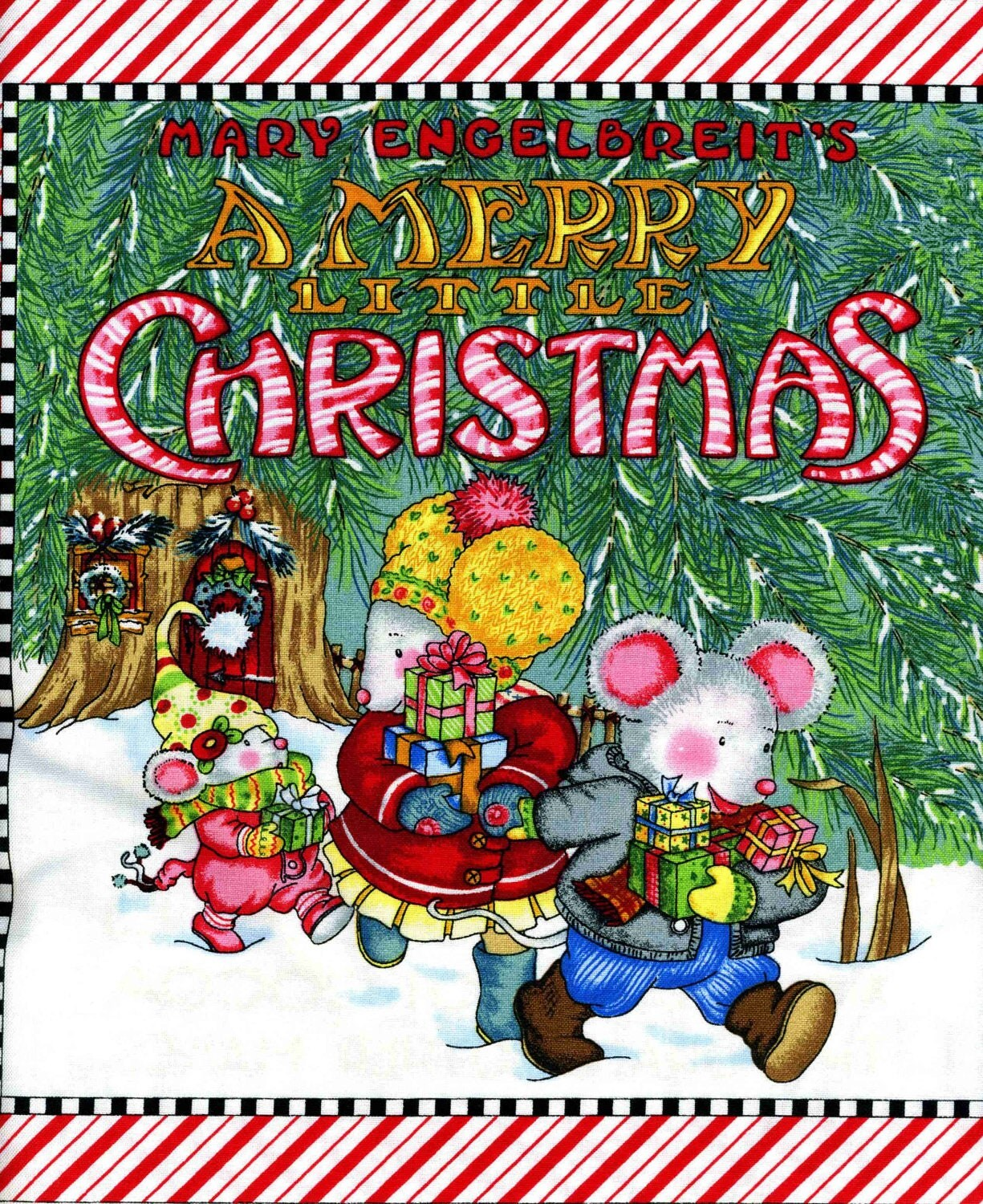 Mary Engelbreit Christmas Fabric Book Panel Sold By